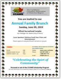 2019 Family Brunch flyer image