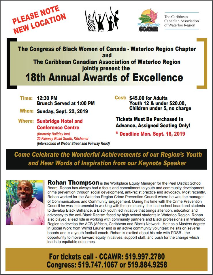 Awards of Excellence on September 22, 2019