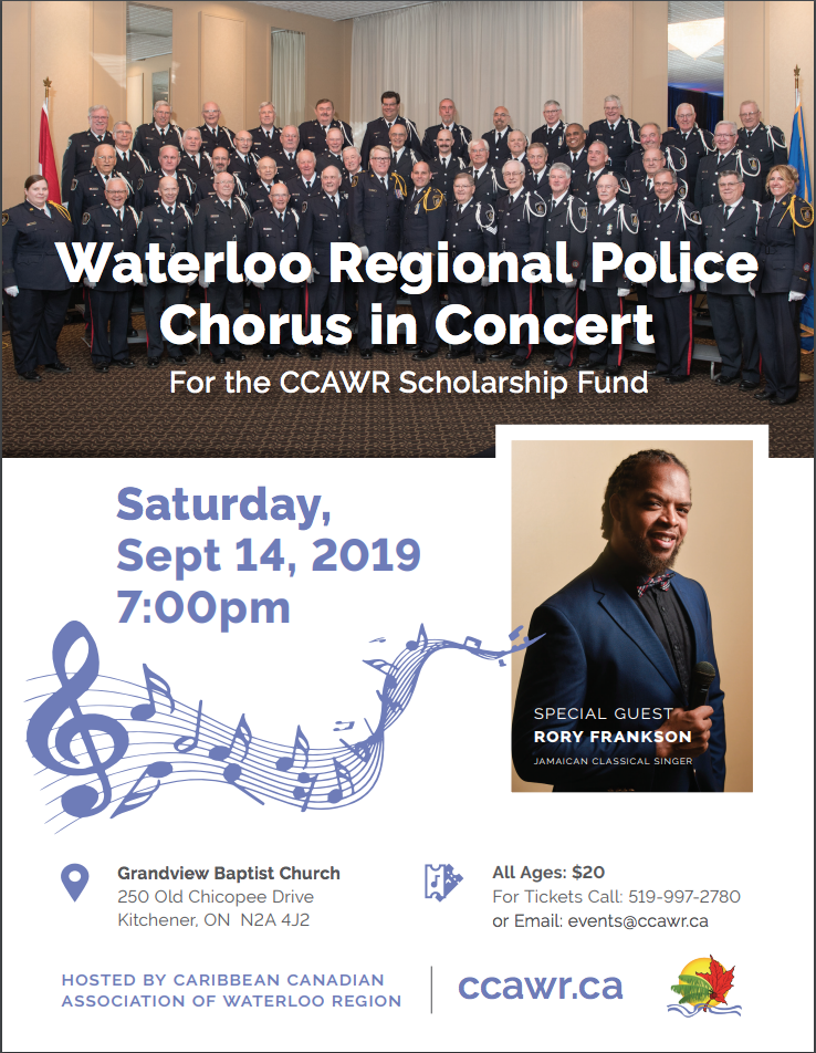 Rory Frankson and the Waterloo Region Police Chorus