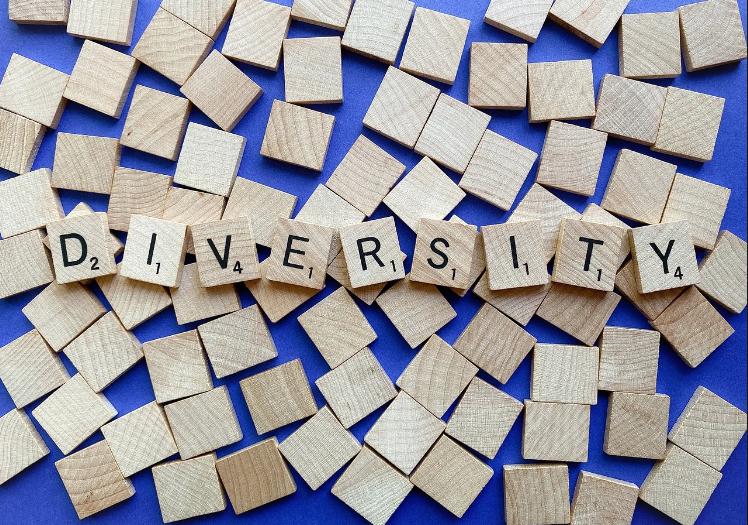Diversity spelled using Scrabble tiles