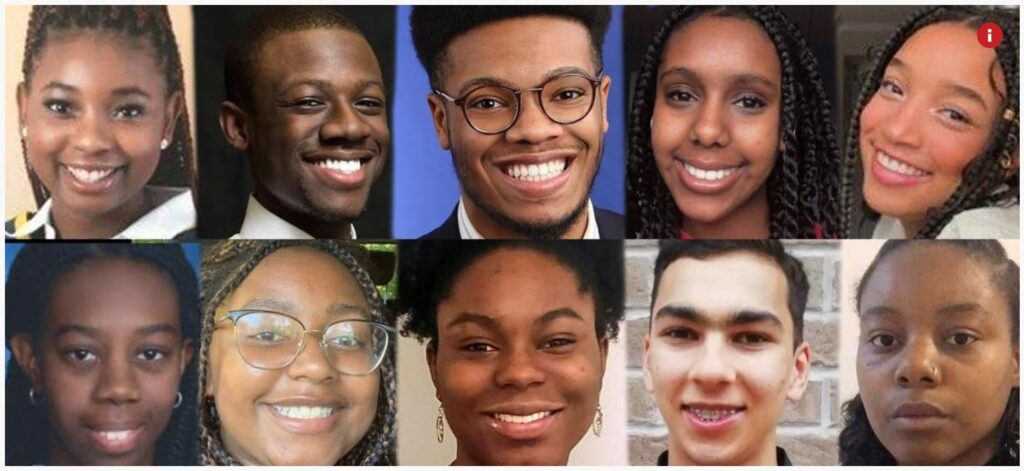 Image of 10 students receiving scholarships in 2020